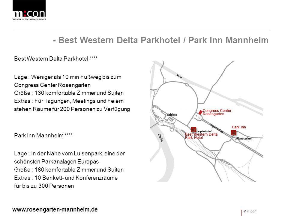 - Best Western Delta Parkhotel / Park Inn Mannheim