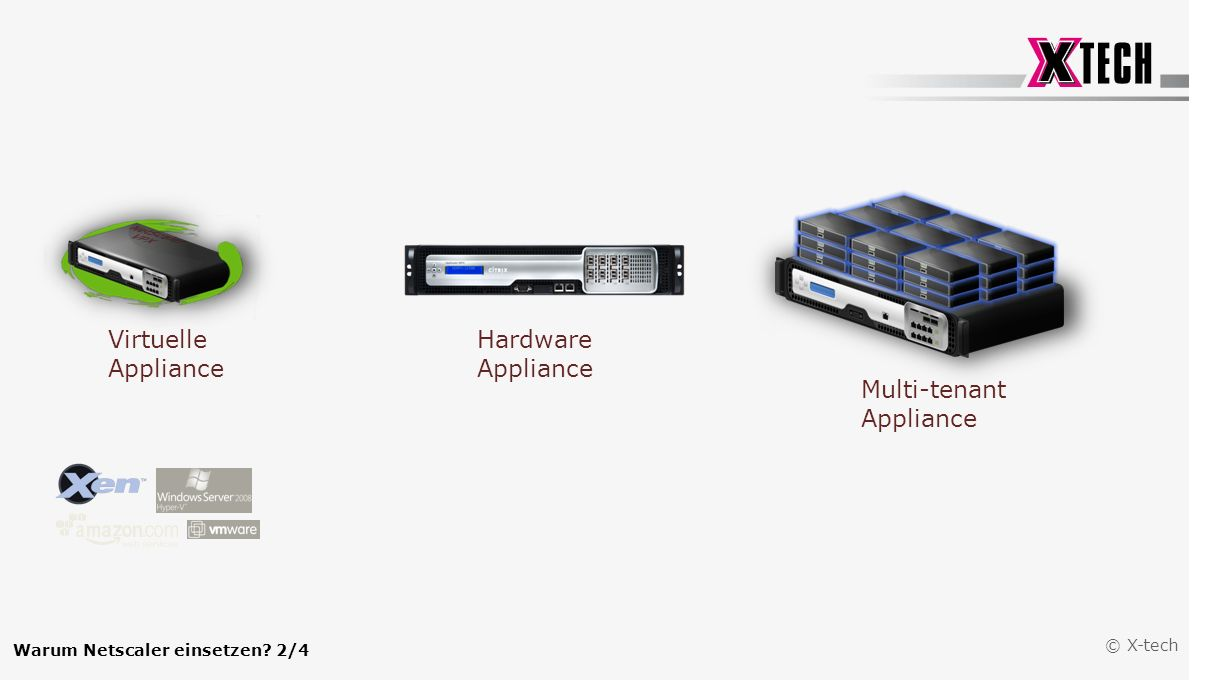 Virtuelle Appliance Hardware Appliance Multi-tenant Appliance