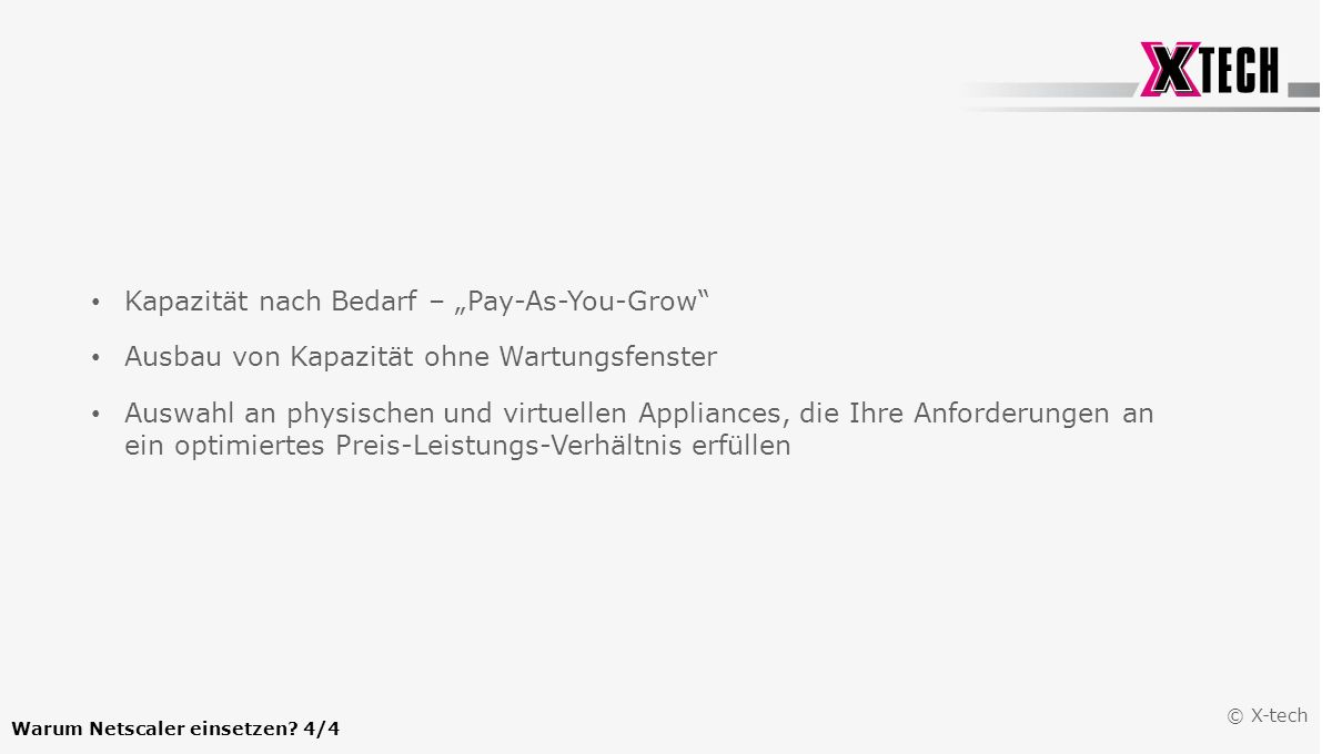 "Kapazität nach Bedarf – ""Pay-As-You-Grow"