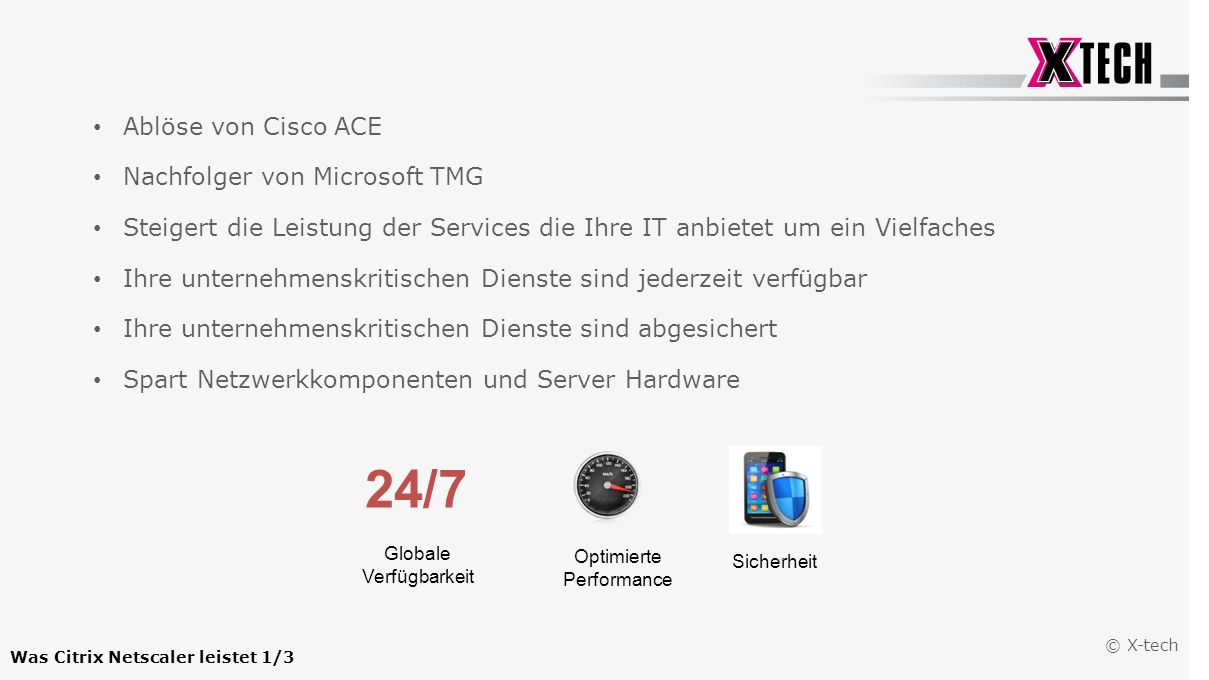 Was Citrix Netscaler leistet 1/3