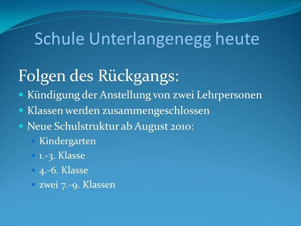 Schule Unterlangenegg heute