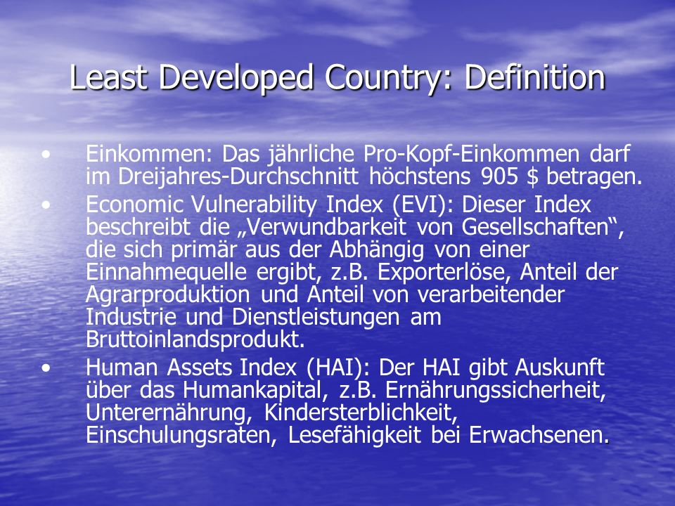 Least Developed Country: Definition