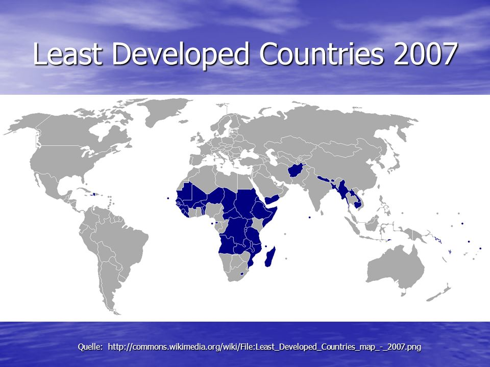Least Developed Countries 2007