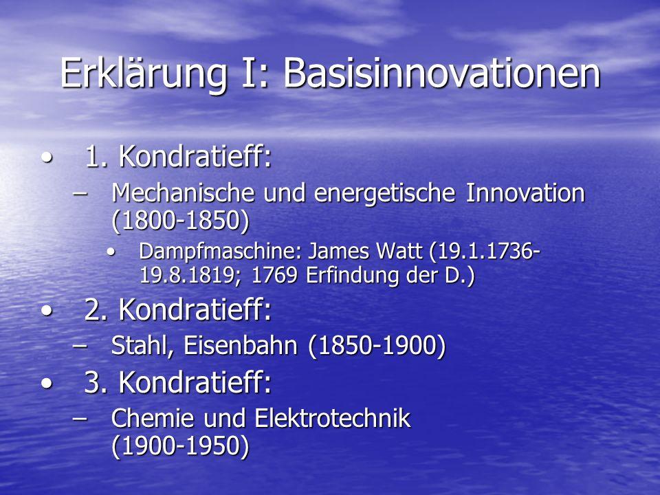 Erklärung I: Basisinnovationen