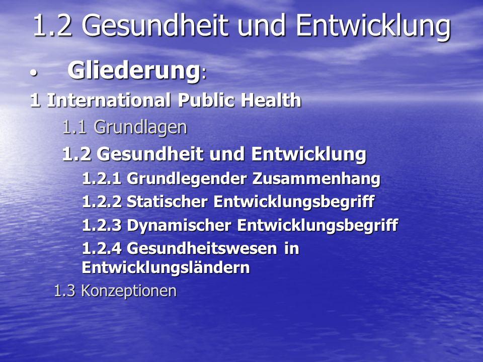 1.2 Gesundheit und Entwicklung