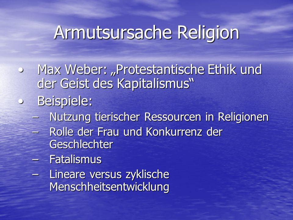 Armutsursache Religion