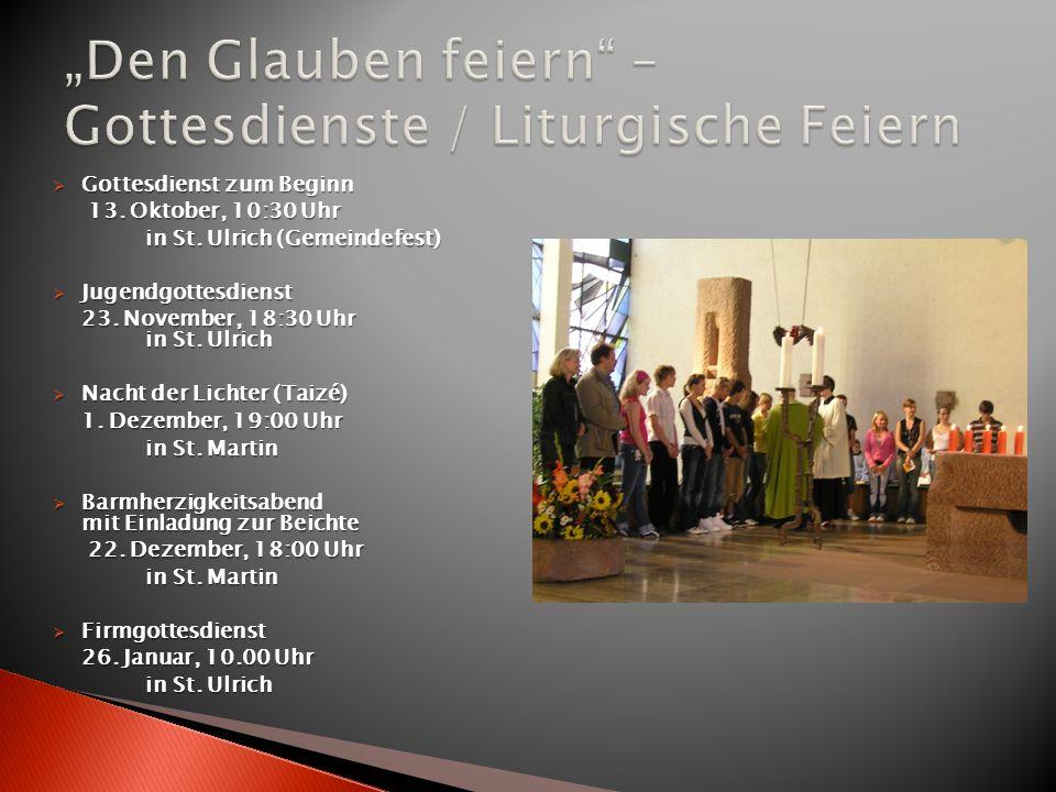 """""""Den Glauben feiern – Gottesdienste / Liturgische Feiern"""