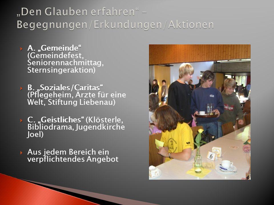 """""""Den Glauben erfahren – Begegnungen/Erkundungen/Aktionen"""