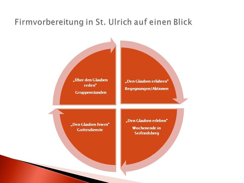 Firmvorbereitung in St. Ulrich auf einen Blick