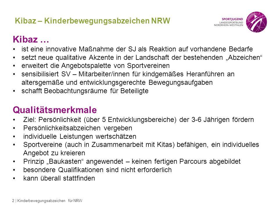 Kibaz – Kinderbewegungsabzeichen NRW