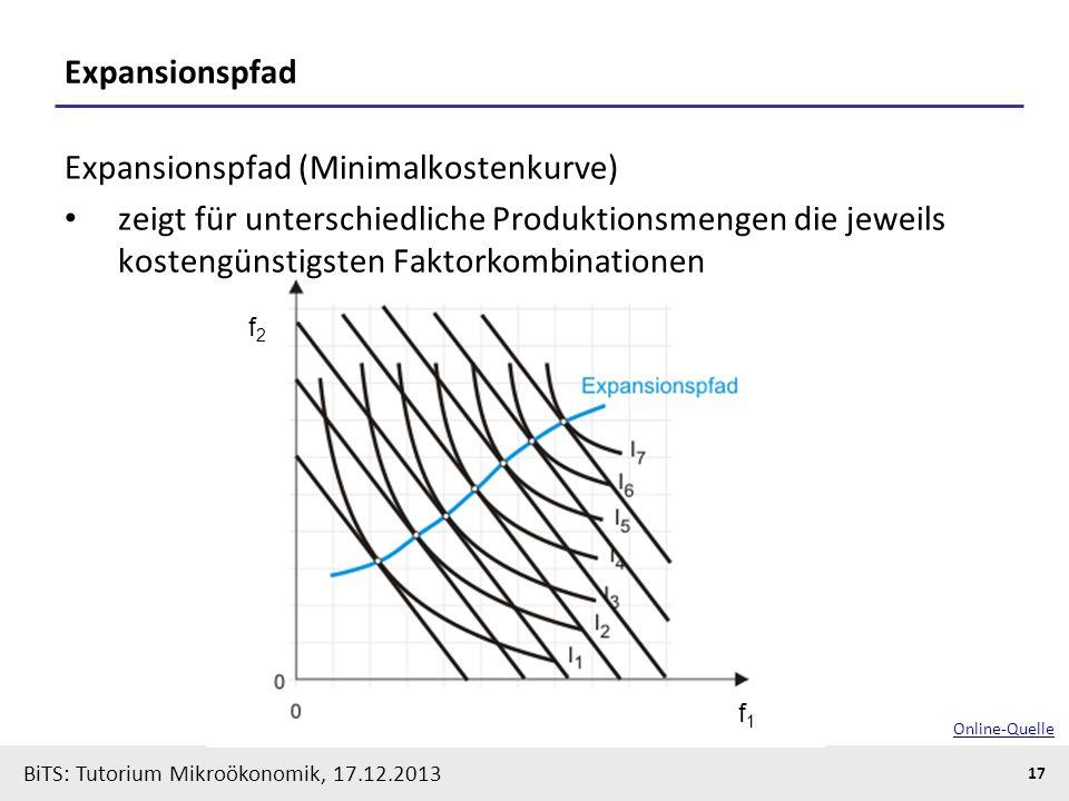 Expansionspfad (Minimalkostenkurve)