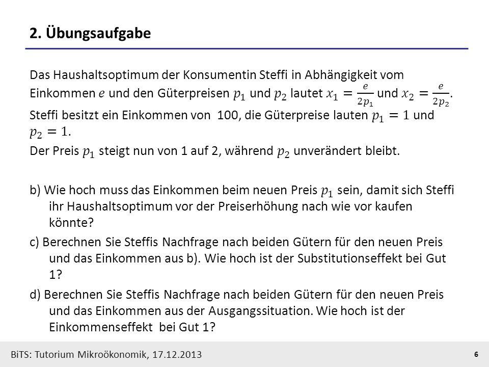 Substitutionseffekt Berechnen : tutorium makro und mikro konomik ppt herunterladen ~ Themetempest.com Abrechnung