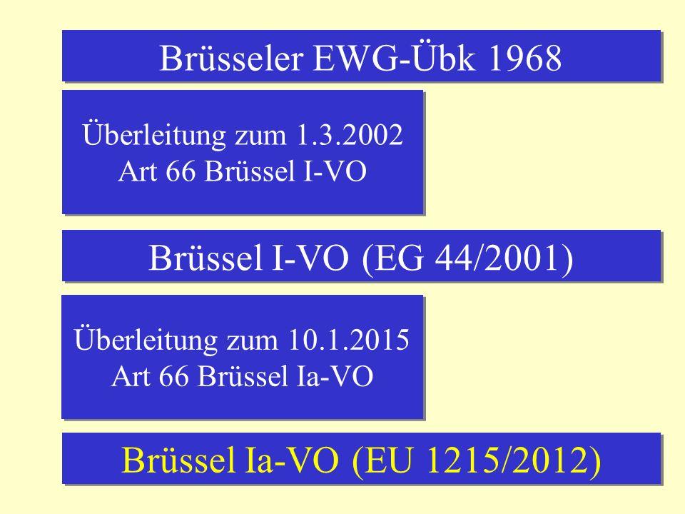 Brüsseler EWG-Übk 1968 Brüssel I-VO (EG 44/2001)