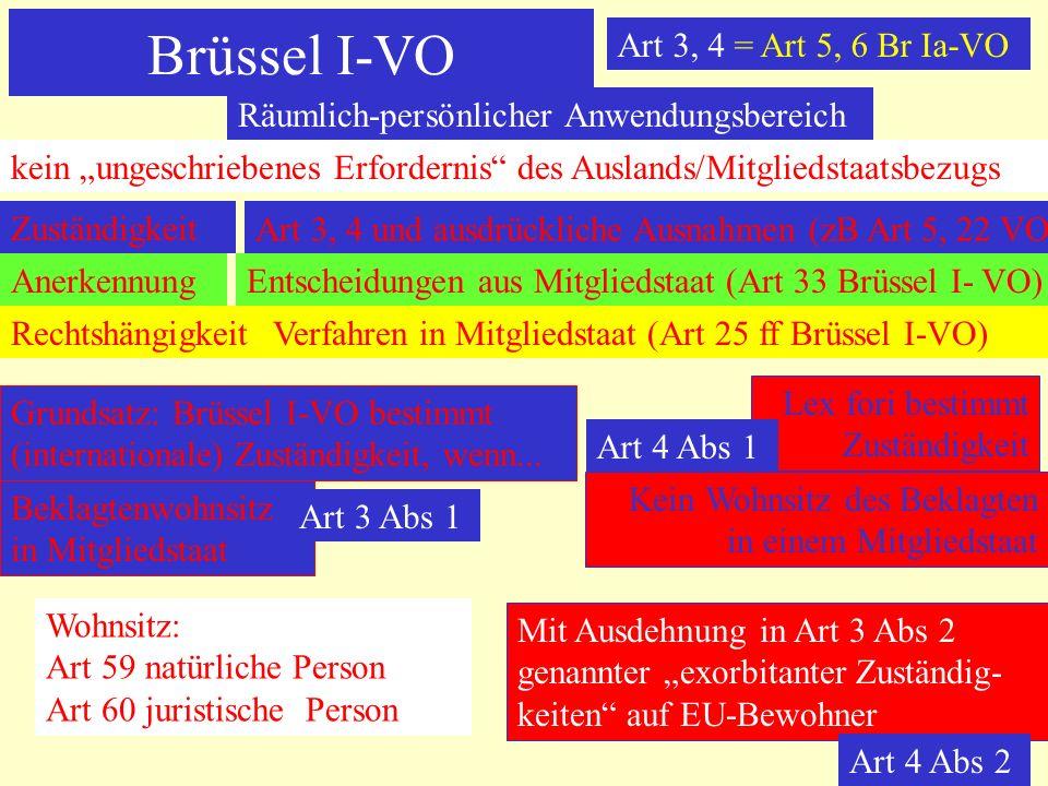 Brüssel I-VO Art 3, 4 = Art 5, 6 Br Ia-VO