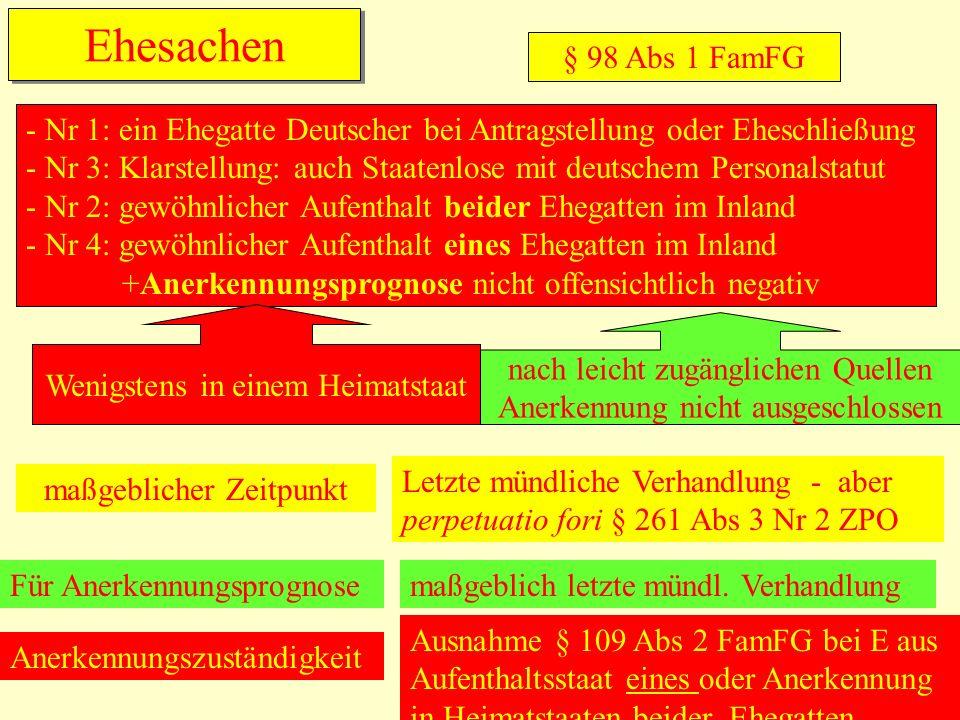 Ehesachen § 98 Abs 1 FamFG.