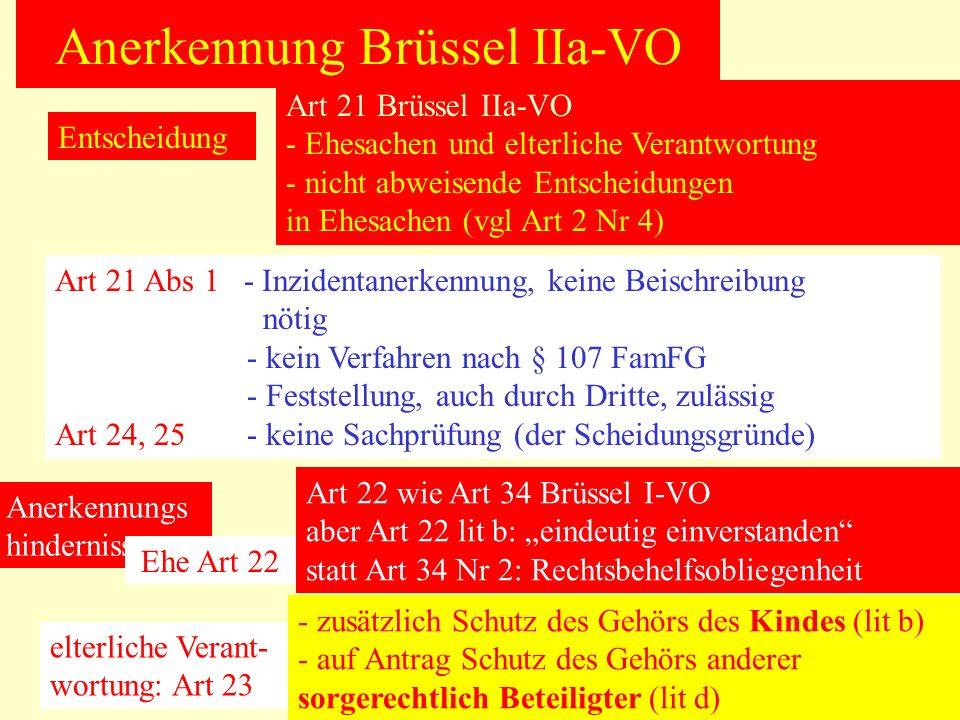 Anerkennung Brüssel IIa-VO