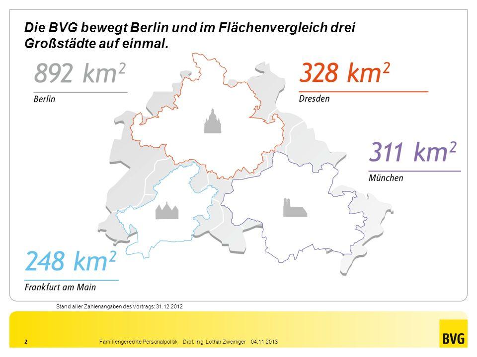Die BVG bewegt Berlin und im Flächenvergleich drei Großstädte auf einmal.