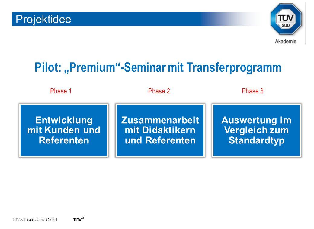 "Pilot: ""Premium -Seminar mit Transferprogramm"