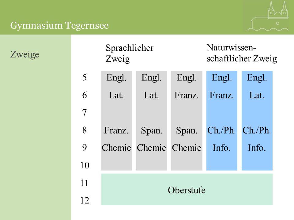 Zweige 5 6 7 8 9 10 11 12 Engl. Lat. Franz. Chemie Engl. Lat. Span.