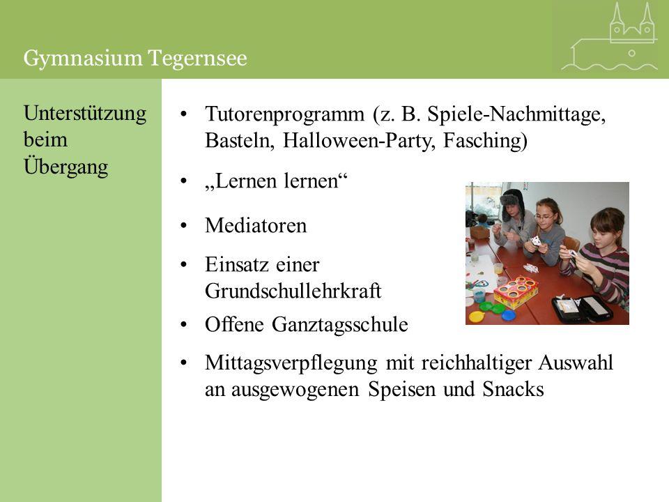 Gymnasium Tegernsee Gymnasium Tegernsee. Unterstützung. beim. Übergang.