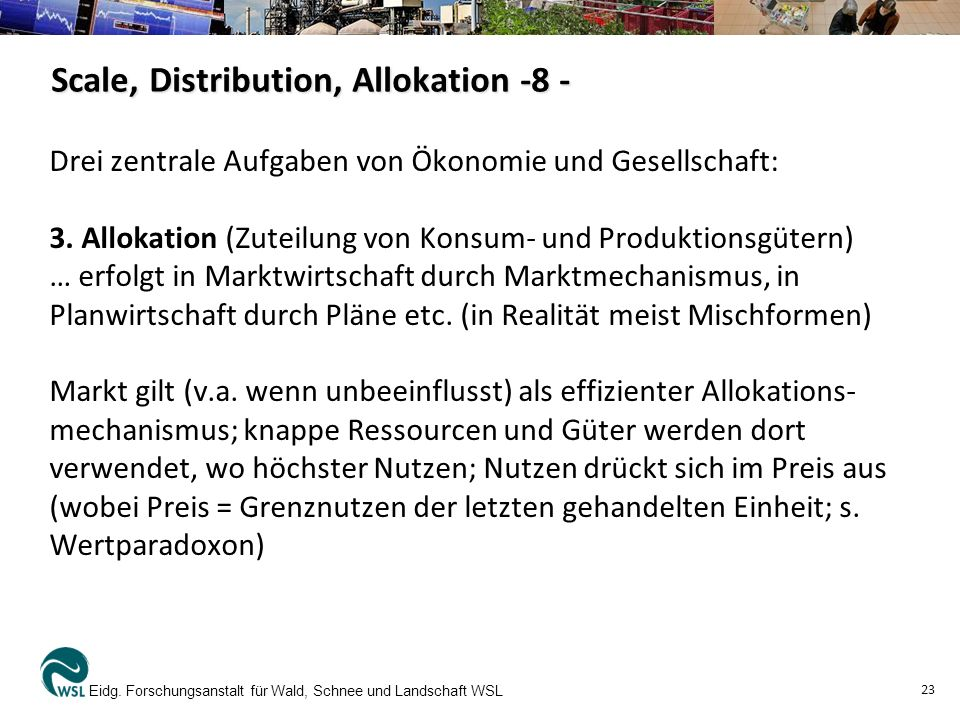 Scale, Distribution, Allokation -8 -