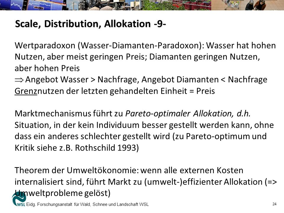Scale, Distribution, Allokation -9-