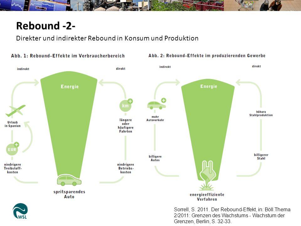 Rebound -2- Direkter und indirekter Rebound in Konsum und Produktion