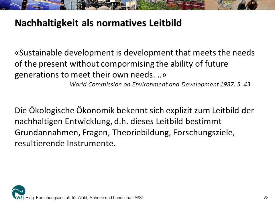 Nachhaltigkeit als normatives Leitbild