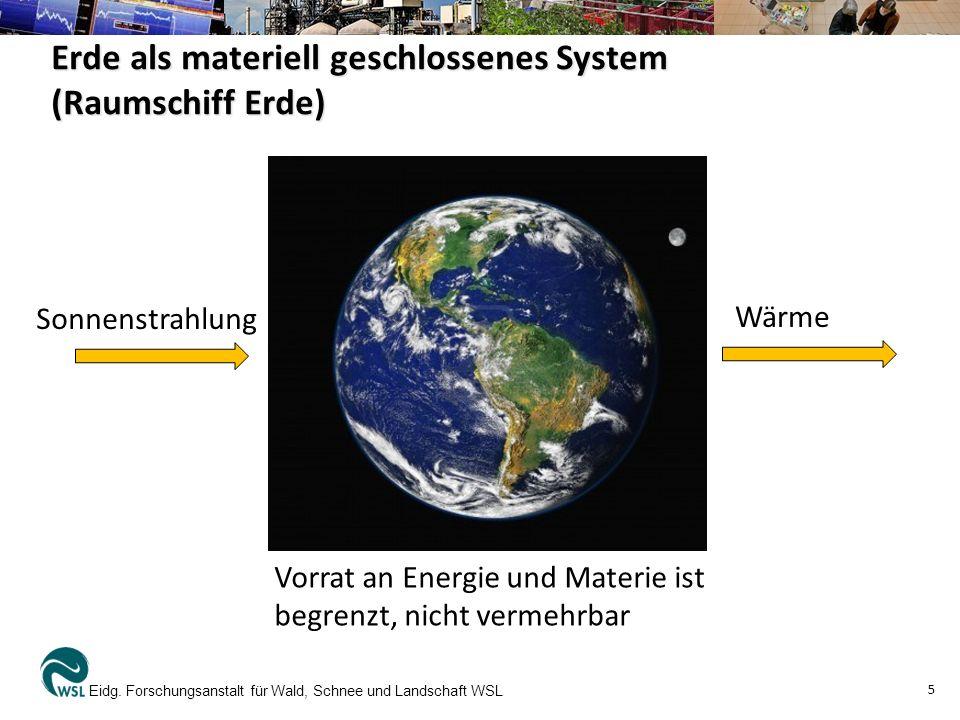 Erde als materiell geschlossenes System (Raumschiff Erde)