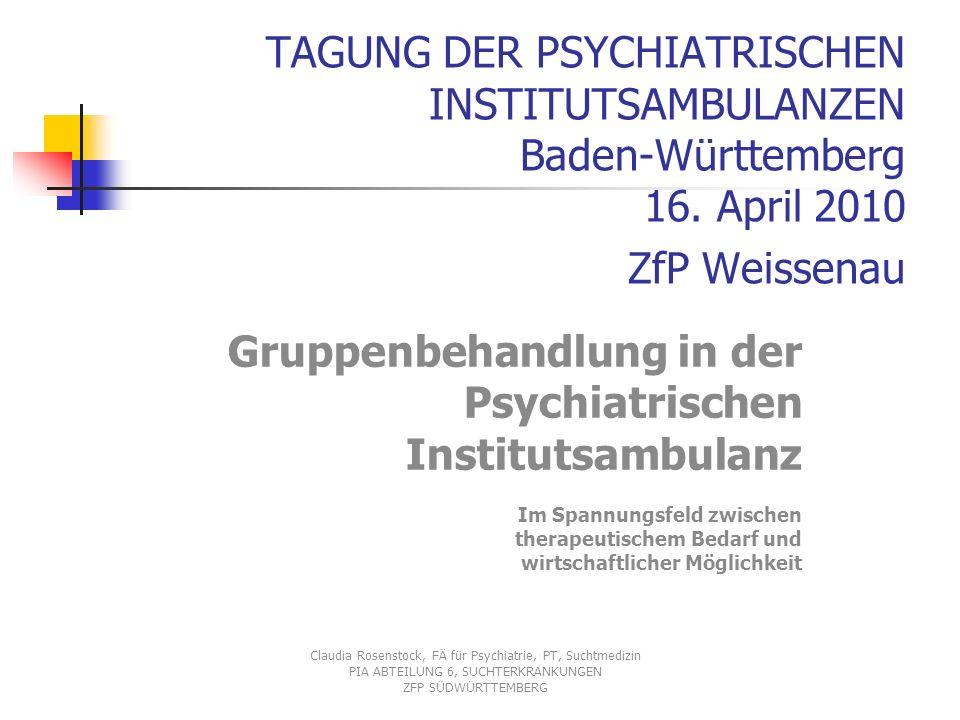 TAGUNG DER PSYCHIATRISCHEN INSTITUTSAMBULANZEN Baden-Württemberg 16