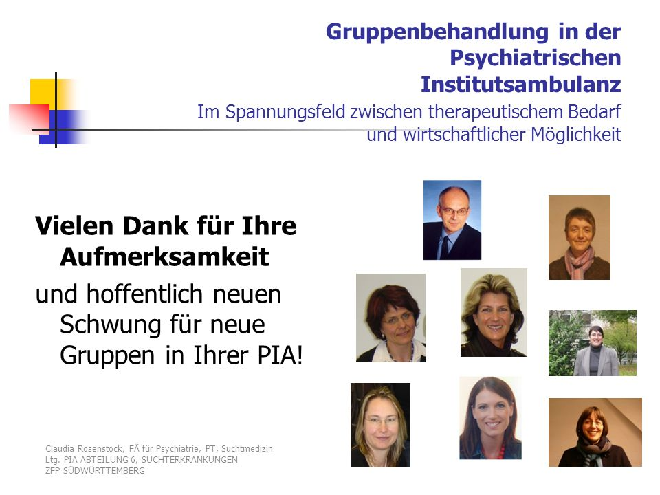 Gruppenbehandlung in der Psychiatrischen Institutsambulanz Im Spannungsfeld zwischen therapeutischem Bedarf und wirtschaftlicher Möglichkeit