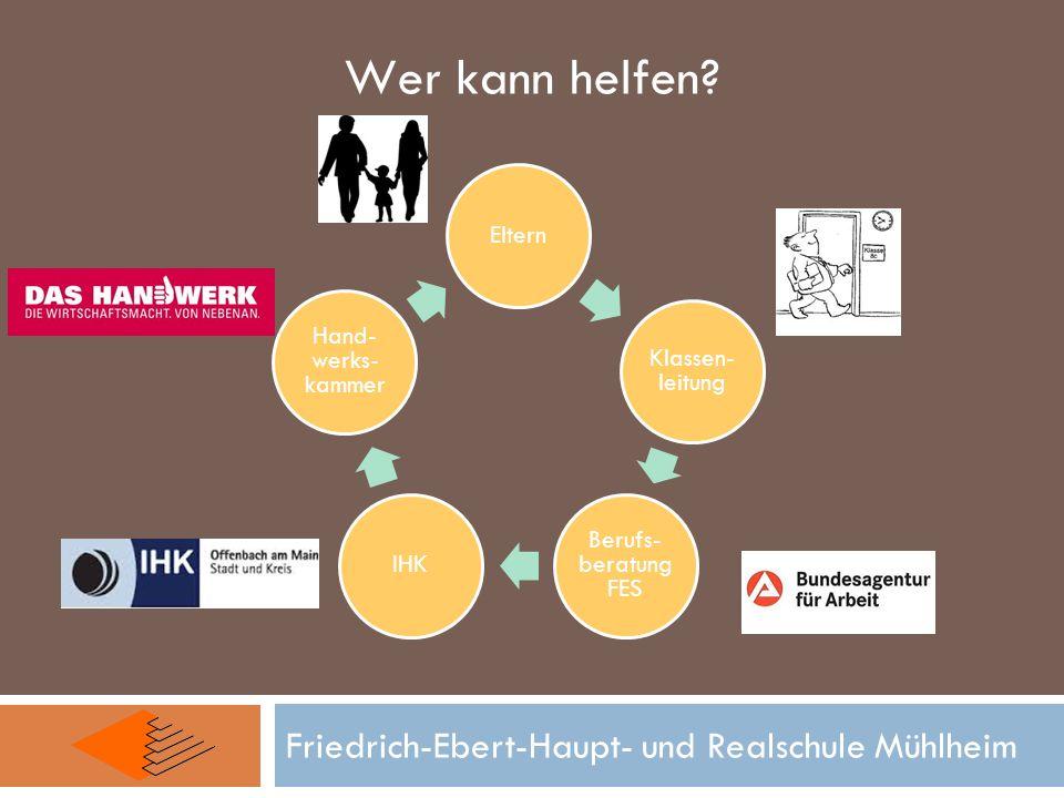 Wer kann helfen Friedrich-Ebert-Haupt- und Realschule Mühlheim Eltern