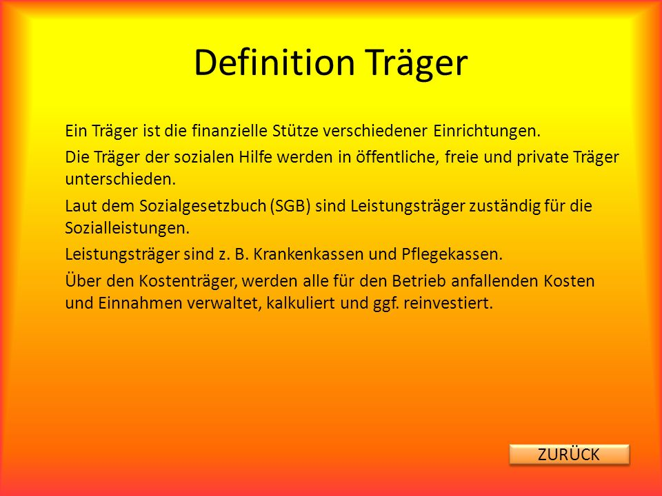 Definition Träger
