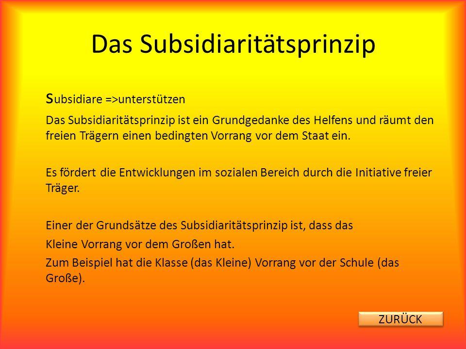 Das Subsidiaritätsprinzip