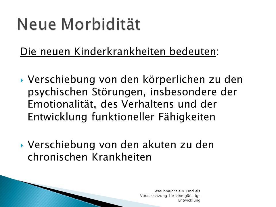 Neue Morbidität Die neuen Kinderkrankheiten bedeuten: