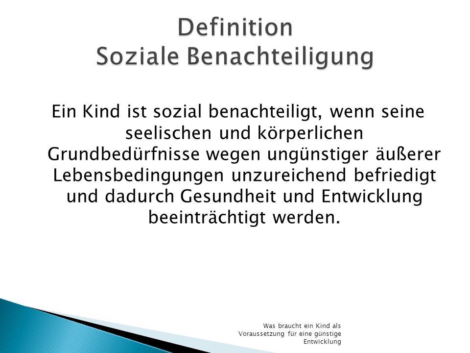 Definition Soziale Benachteiligung