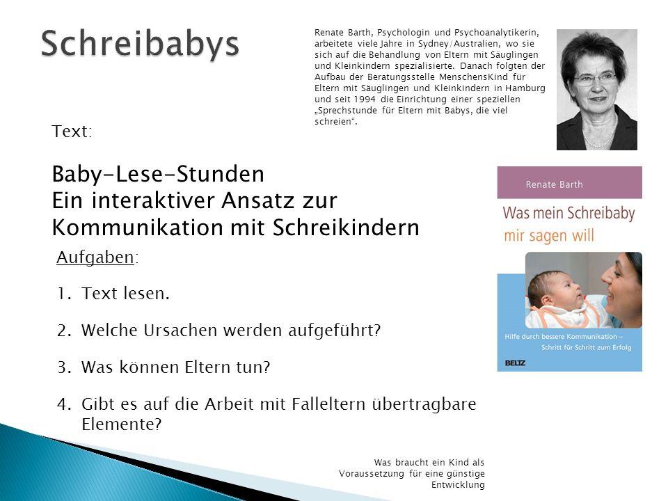 Schreibabys Baby-Lese-Stunden