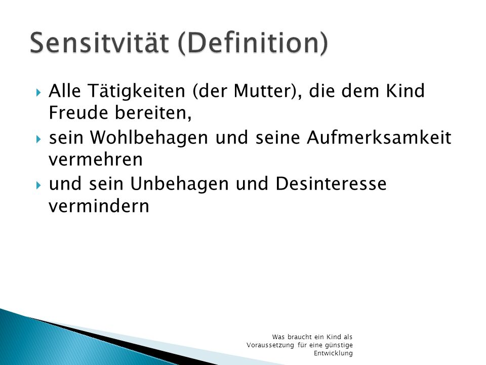 Sensitvität (Definition)
