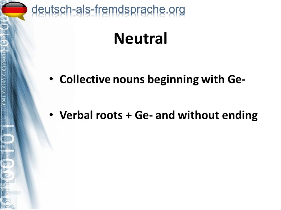 Neutral Collective nouns beginning with Ge-