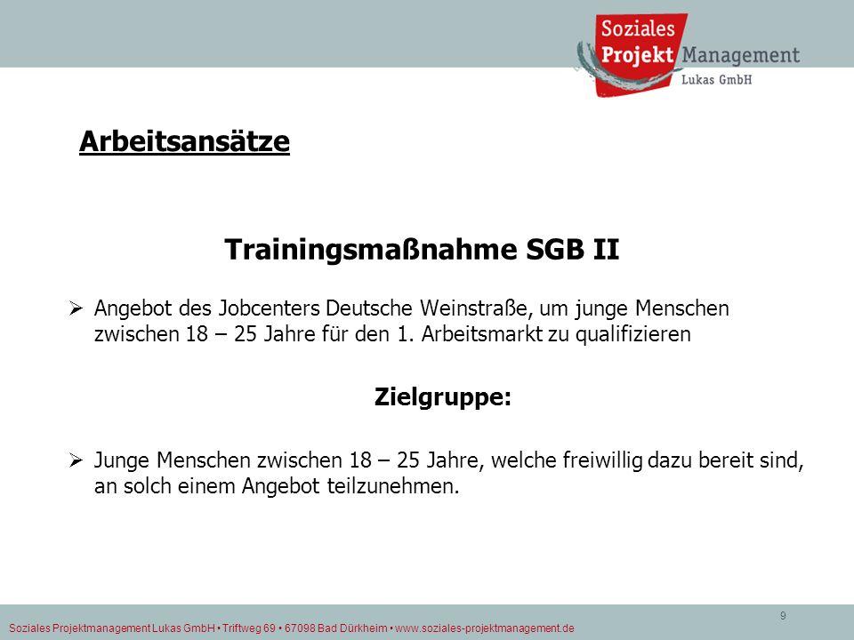 Trainingsmaßnahme SGB II