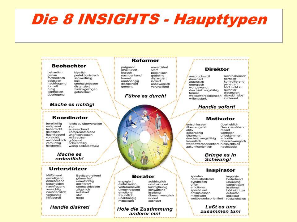 Die 8 INSIGHTS - Haupttypen