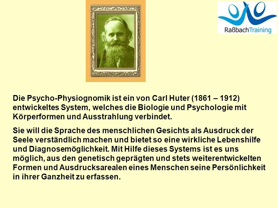 Die Psycho-Physiognomik ist ein von Carl Huter (1861 – 1912) entwickeltes System, welches die Biologie und Psychologie mit Körperformen und Ausstrahlung verbindet.
