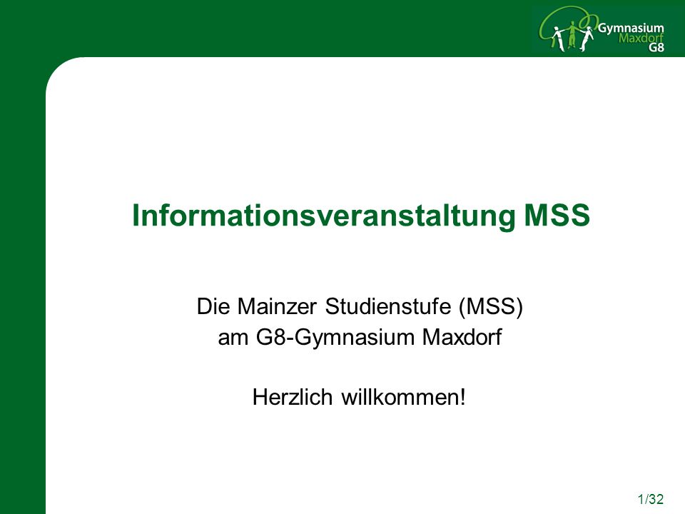 Informationsveranstaltung MSS