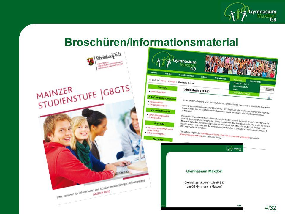 Broschüren/Informationsmaterial