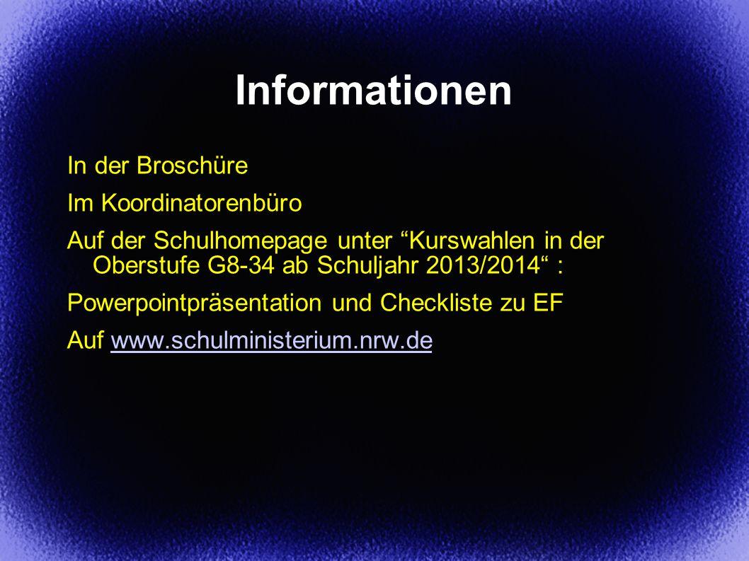 Informationen In der Broschüre Im Koordinatorenbüro