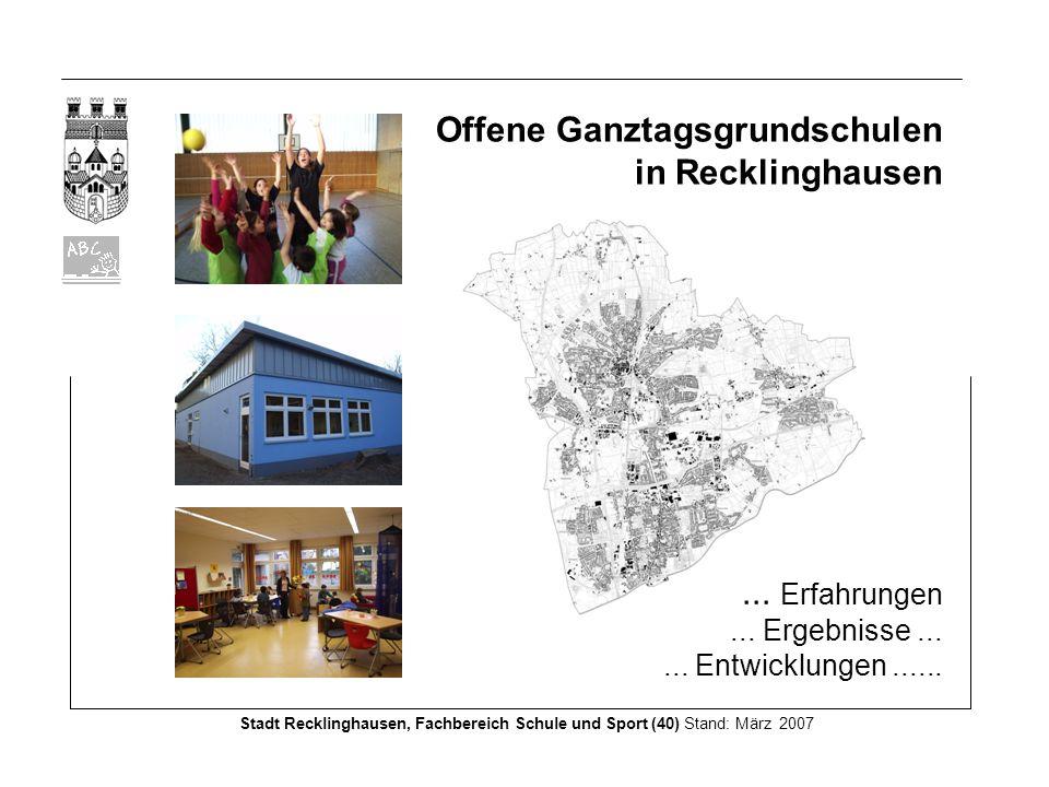 Offene Ganztagsgrundschulen in Recklinghausen