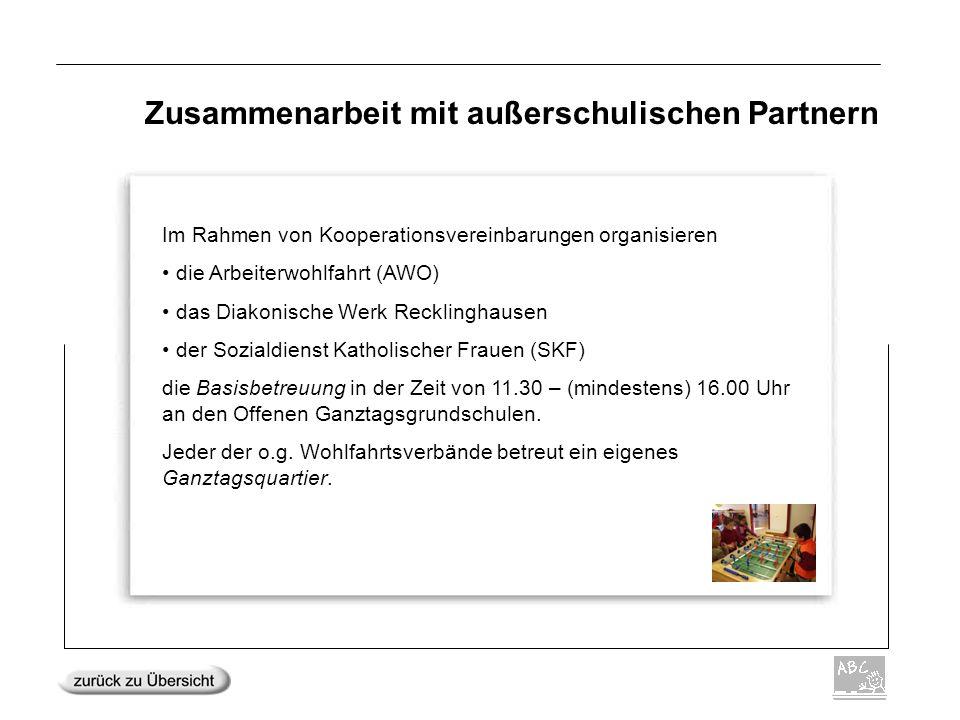 Zusammenarbeit mit außerschulischen Partnern