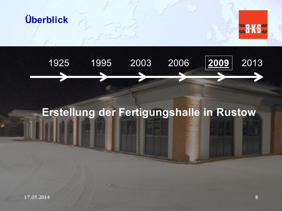 Erstellung der Fertigungshalle in Rustow