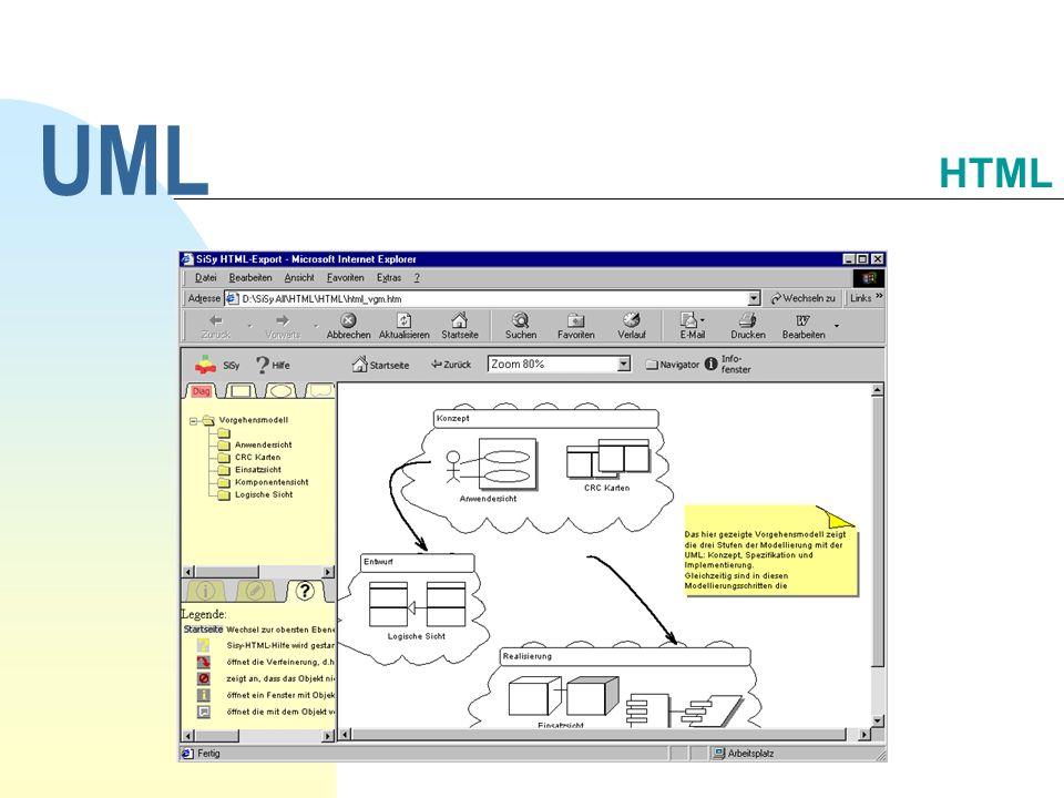 UML 30.09.1998 HTML UML Workshop, Dipl.-Ing. Päd. A. Huwaldt