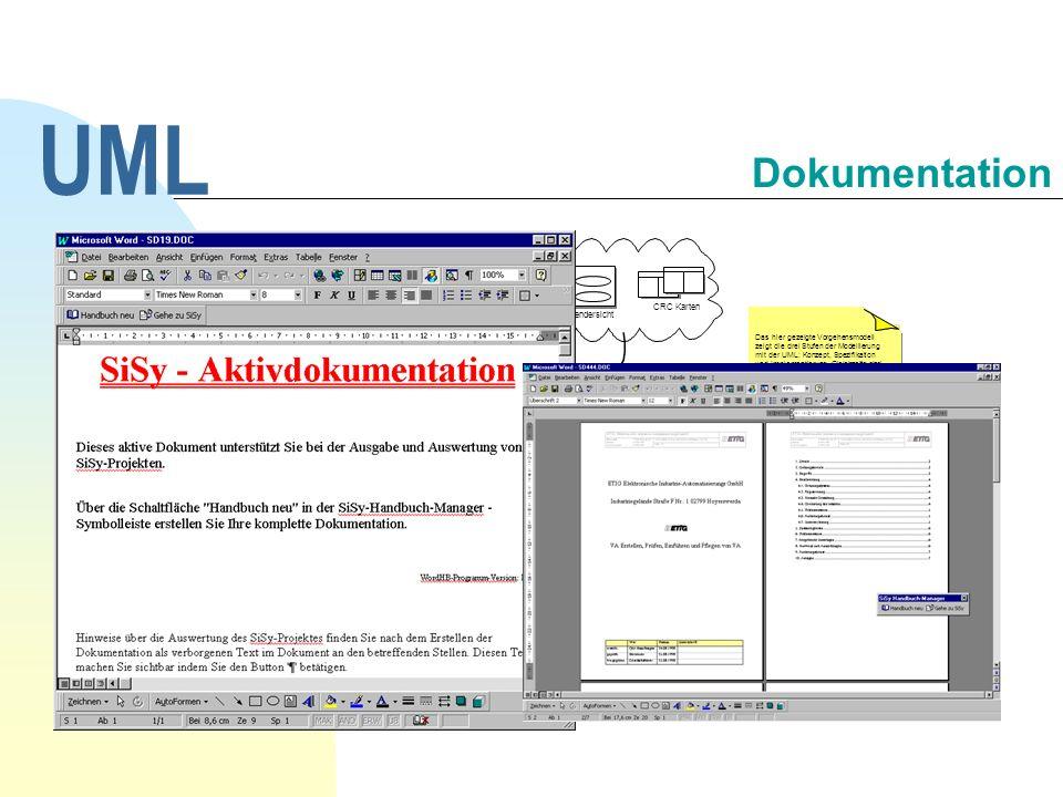UML Dokumentation 30.09.1998 UML Workshop, Dipl.-Ing. Päd. A. Huwaldt
